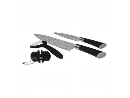 Set nožů s bruskou a škrabkou Presto 4-díly AMBITION