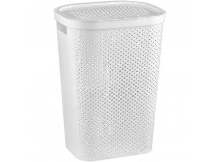 Ažúrový prádelní koš Infinity White 60 l CURVER