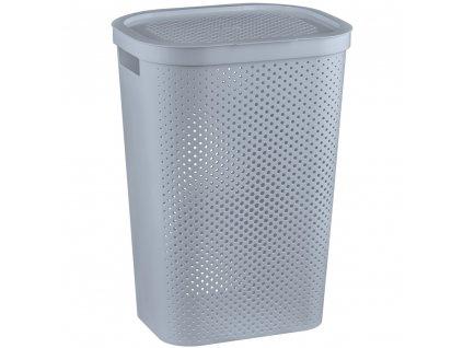 Ažúrový prádelní koš Infinity Grey 60 l CURVER