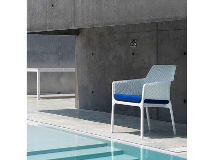 Plastová zahradní židle Net Bianco NARDI