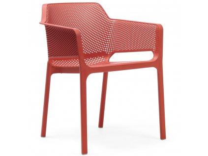 Plastová zahradní židle Net Red NARDI