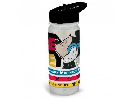 Sportovní láhev Mickey Music s náramky 520 ml DISNEY