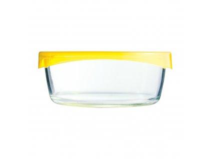 Hranatá skleněná nádobka Keep 'n' Box Yellow 720 ml LUMINARC