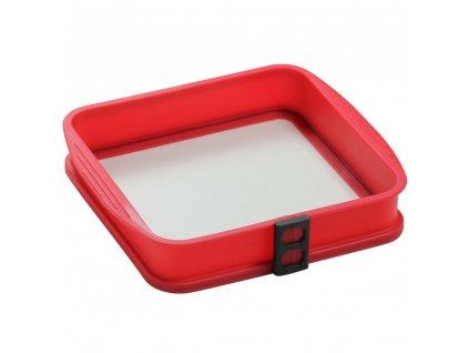 Silikonová forma se skleněným dnem Delice Red 24 x 24 cm AMBITION