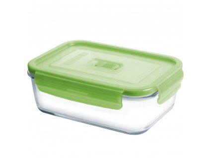 Hermetická nádobka Pure Box Active Green 20,3 x 14,4 cm, 1220 ml LUMINARC