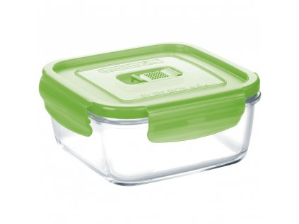 Hermetická nádobka Pure Box Active Green 10 x 10 cm, 380 ml LUMINARC