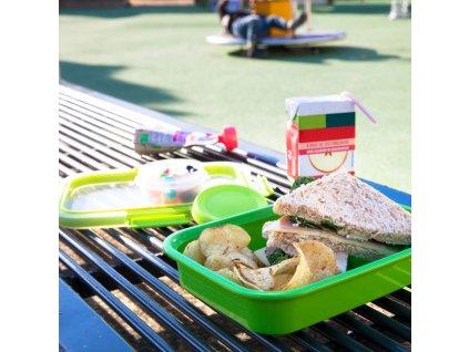 Nádobka na potraviny To Go Sandwich Green 20 x 15 x 5 cm, 700 ml CURVER