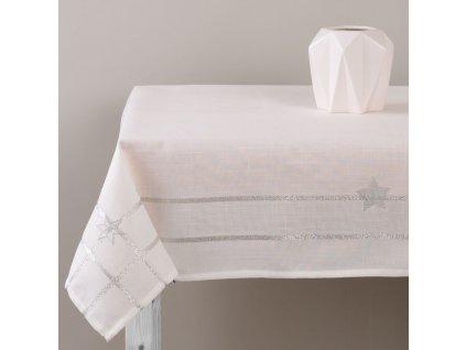 Dekorační ubrus z polyesteru Silver Star 130 x 160 cm AMBITION