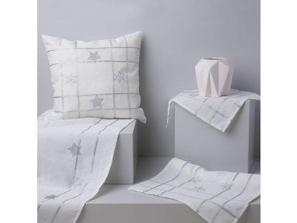 Dekorační ubrus z polyesteru Silver Star 160 x 280 cm AMBITION
