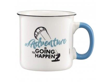 Porcelánový hrnek Adventure An adventure is going to happen 510 ml AMBITION