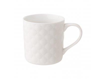 Porcelánový hrnek Glamour Quilted White 420 ml AMBITION
