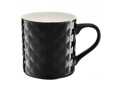 Porcelánový hrnek Glamour Quilted Black 420 ml AMBITION