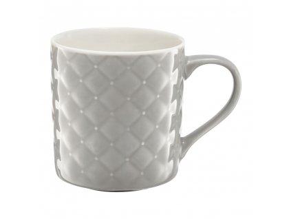 Porcelánový hrnek Glamour Quilted Light Gray 420 ml AMBITION