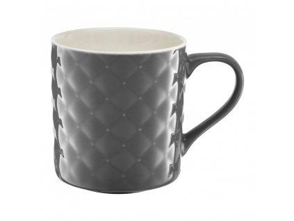 Porcelánový hrnek Glamour Quilted Dark Gray 420 ml AMBITION