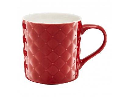 Porcelánový hrnek Glamour Quilted Red 420 ml AMBITION