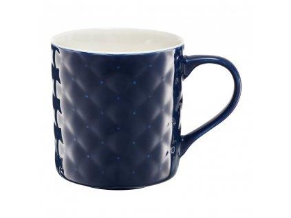 Porcelánový hrnek Glamour Quilted Dark Blue 420 ml AMBITION
