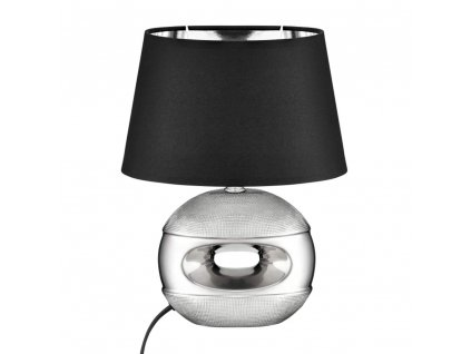 Stolní lampa Living Silver-Black 23 x 16 x 30 cm DOMOTTI