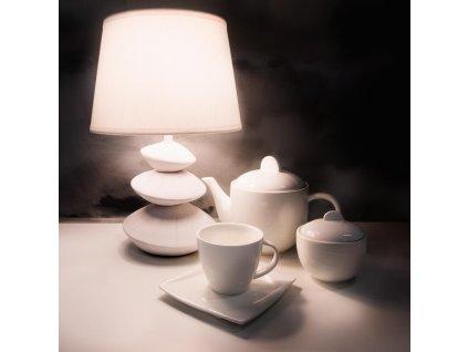 Stolní lampa Living White 23 x 23 x 36 cm DOMOTTI