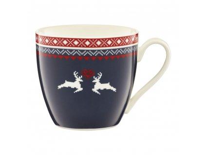 Porcelánový hrnek Winter Blue Reindeer 510 ml AMBITION