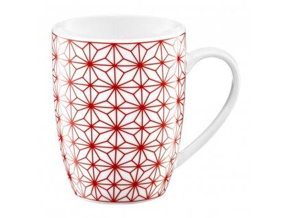 Porcelánový hrnek Galaxy White-Red 370 ml AMBITION