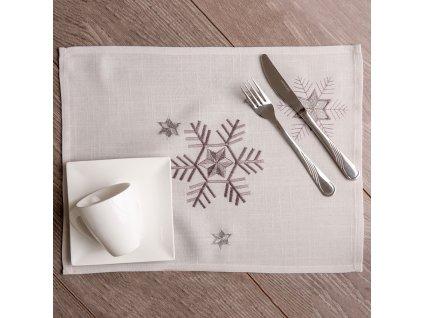 Podložka na stůl z polyesteru Snowflake 30 x 40 cm AMBITION