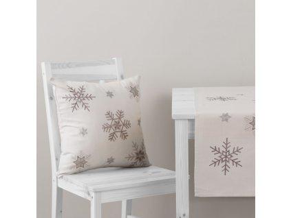 Povlak na polštář z polyesteru Snowflake 42 x 42 cm AMBITION