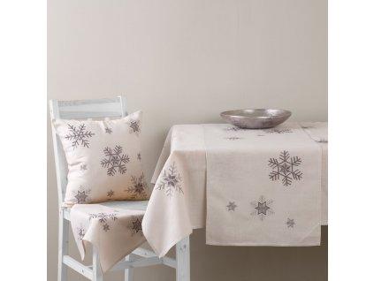 Dekorační ubrus z polyesteru Snowflakes 130 x 160 cm AMBITION