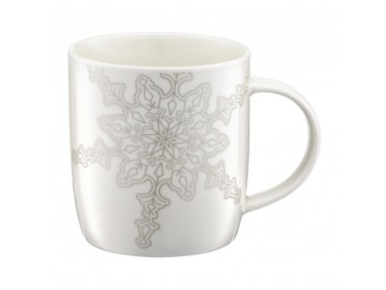 Porcelánový hrnek Winter Silver Snowflake 370 ml AMBITION