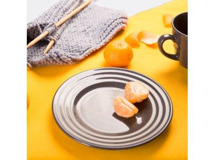 Dezertní talíř Wave Grey 20 cm AMBITION