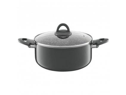 Hliníkový hrnec s poklicí Glamour Gray 28 cm 6,7 l AMBITION