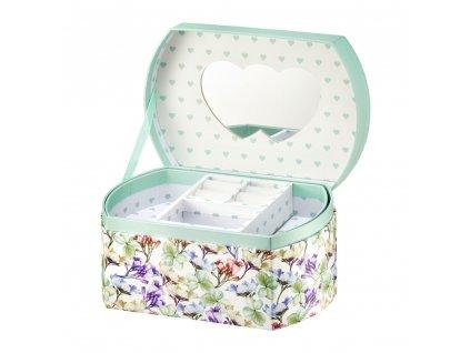 Lepenková krabička se zrcadlem Look Flowers 16,5 x 11 x 8,5 cm AMBITION