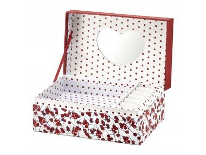 Lepenková krabička se zrcadlem Look Holly 18 x 11 x 7,5 cm AMBITION