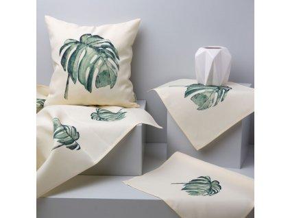 Textilní sada do jídelny Botanic Monstera 8-dílů AMBITION