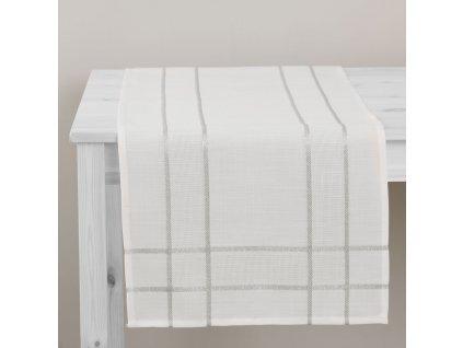 Dekorační běhoun / štola z polyesteru Silver 40 x 150 cm AMBITION