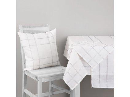 Dekorační ubrus z polyesteru Silver 160 x 280 cm AMBITION