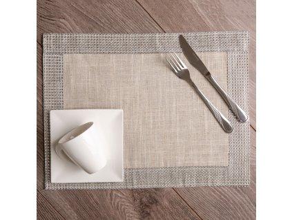 Podložka na stůl z polyesteru Decor Silver 30 x 40 cm AMBITION