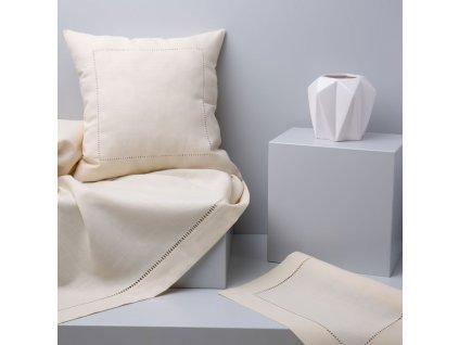 Dekorační ubrus z polyesteru Classical Ecru 130 x 160 cm AMBITION