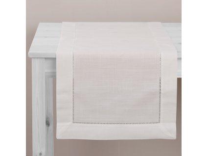 Dekorační běhoun / štola z polyesteru Classical White 40 x 150 cm AMBITION