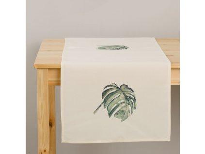 Dekorační běhoun / štola z polyesteru Botanic Monstera 40 x 150 cm AMBITION