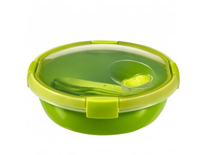 Nádobka s příbory To Go Lunch Green 20 x 9 cm, 1000 ml CURVER