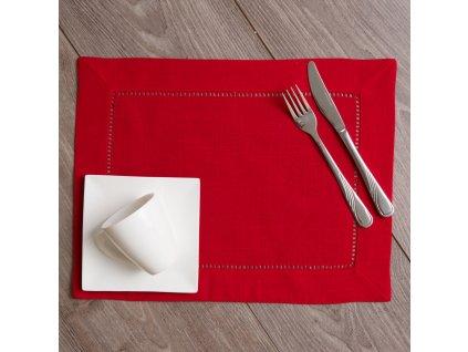 Podložka na stůl z polyesteru Classical Red 30 x 40 cm AMBITION