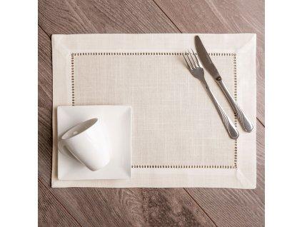 Podložka na stůl z polyesteru Classical Ecru 30 x 40 cm AMBITION