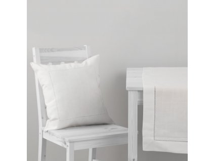 Povlak na polštář z polyesteru Classical White 42 x 42 cm AMBITION