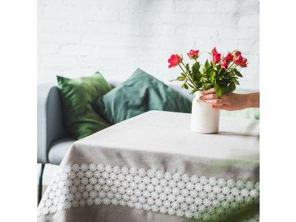 Dekorační ubrus z polyesteru Delicate 130 x 160 cm AMBITION