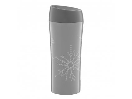 Termohrnek Winter Snowflake Gray 400 ml AMBITION