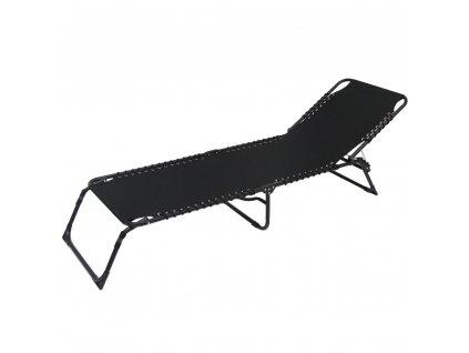 Luxusní polohovací zahradní lehátko Relax Black PATIO