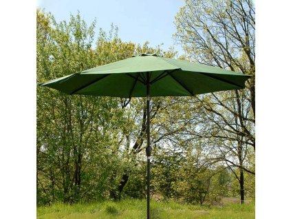 Hliníkový zahradní slunečník Alu Green 3 m PATIO
