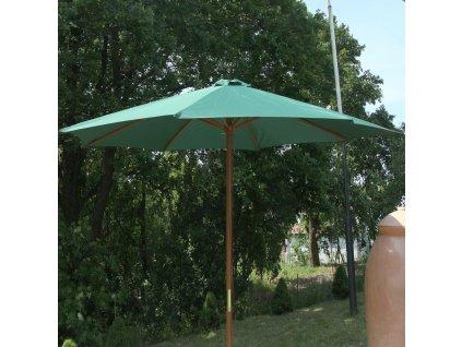 Dřevený zahradní slunečník Poly Green 3 m PATIO