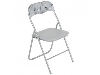Skládací zahradní židle Flower Grey PATIO