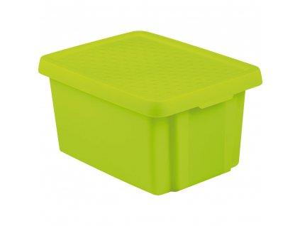 Box s víkem Essentiale Green 16 l CURVER